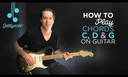 Every Rose by Poison – Playing easy chords (C G D) Beginner Guitar Tutorial (Jellynote Lesson)
