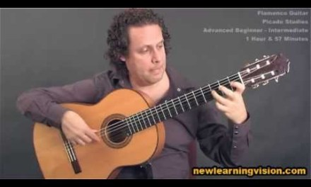 Picado Studies – Online flamenco guitar lesson demo (Adv-Beginner to Intermediate)