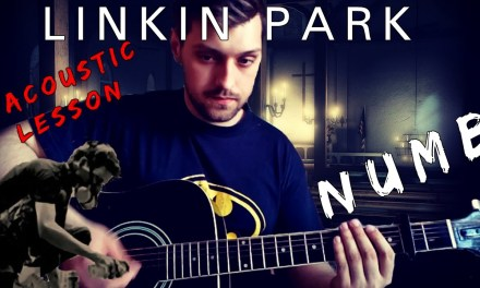 How to play Linkin Park Numb on acoustic guitar  – Guitar Lesson – Tabs in Description