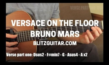 Versace on the Floor Bruno Mars Acoustic Guitar Lesson Fingerstyle Chords