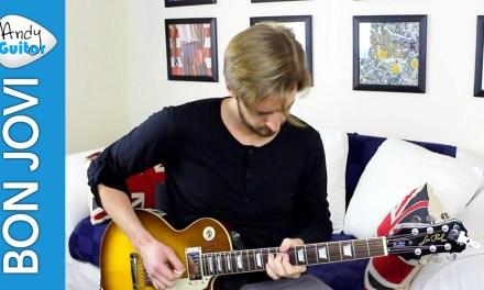 Bon Jovi – You Give Love A Bad Name Guitar lesson Tutorial