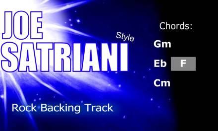 Rock Joe Satriani #5 Style Guitar Backing Track 160 Bpm Highest Quality
