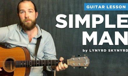 """Guitar lesson for """"Simple Man"""" by Lynyrd Skynyrd (acoustic w/ chords)"""