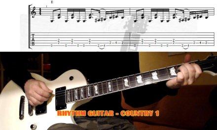 Country GUITAR LESSON with TAB – Rhythm Guitar