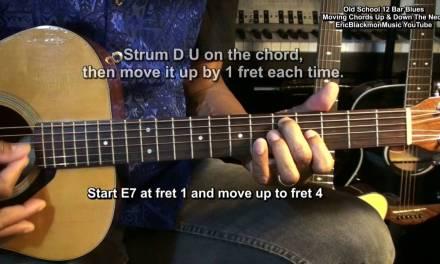 How To Play Easy Old School Blues Guitar Moving Chords FunkGuitarGuru Funk