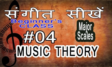 Basic Music Theory Lessons for Beginners in Hindi 04 How to Write Major Scales?