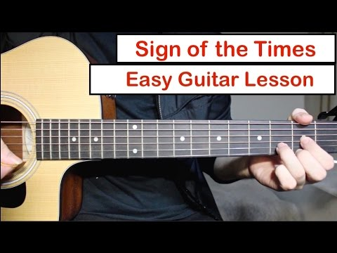 Harry Styles – Sign of the Times   Guitar Lesson (Tutorial) How to ...