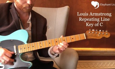 Louis Armstrong Lick. Swing Blues Guitar Lick Lesson. Nicky V