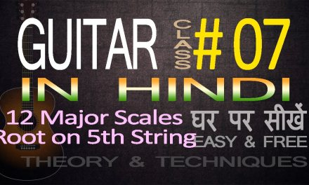Complete Guitar Lessons For Beginners In Hindi: 07 How to Play all Major Scales, Root on 5th string