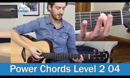 Easy Guitar Power Chords (Level 2 04) Beginner Guitar Lesson Tutorial
