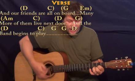Yellow Submarine (Beatles) Strum Guitar Cover Lesson with Chords/Lyrics
