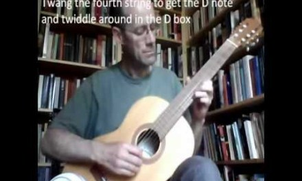 Easy blues guitar lesson for beginners (even works on a nylon string classical guitar)