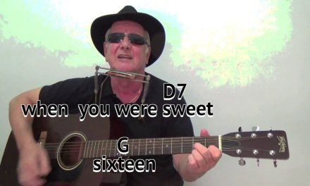 When You Were Sweet 16 – The Fureys cover – easy chords guitar lesson –  on-screen chords and lyrics