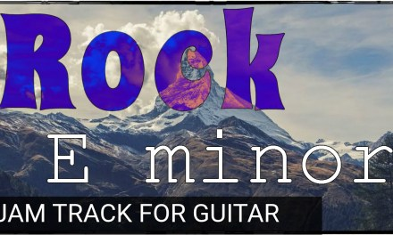 Groovy Rock Backing Track for Guitar in E Minor