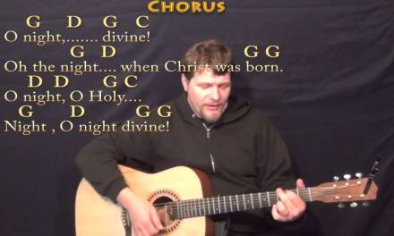 O Holy Night – Strum Guitar Cover Lesson in G with Chords/Lyrics