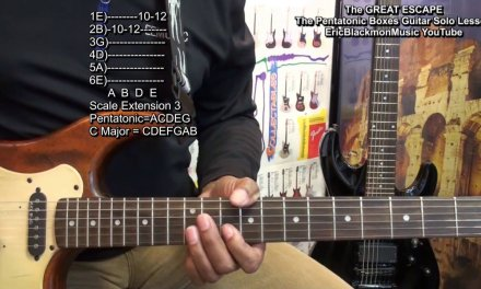 THE GREAT ESCAPE From The Pentatonic Boxes Guitar Solo Lesson EricBlackmonGuitar HD