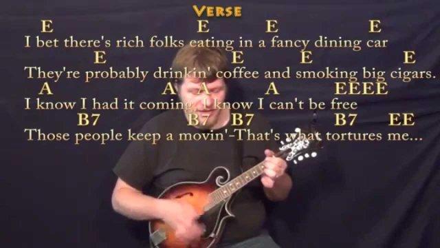 Folsom Prison Blues (Johnny Cash) Mandolin Cover Lesson with Chords ...