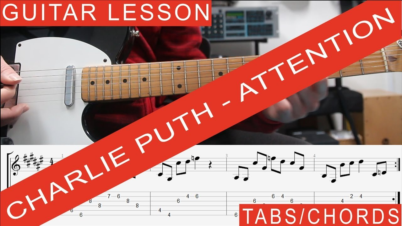 Charlie Puth Attention Guitar Lesson Tutorial Tab Chords Riff