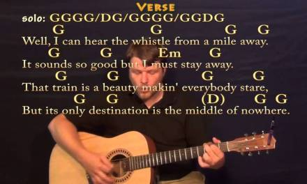 Long Black Train (Josh Turner) Strum Guitar Cover Lesson with Chords/Lyrics