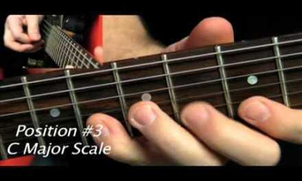 5 Positions C Major Scales Buckalick.com Guitar Lessons