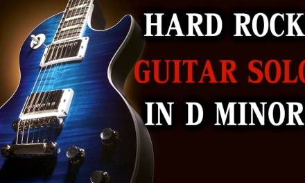 Epic Rock Guitar Backing Track in D Minor – Solo