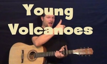 Young Volcanoes (Fall Out Boy Acoustic) Easy Strum Guitar Lesson How to Play Tutorial