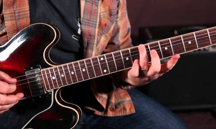 Rock and Blues Guitar Solo Lesson – E Minor Pentatonic scale run root on A string