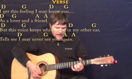 Peaceful Easy Feeling (Eagles) Strum Guitar Cover Lesson with Chords/Lyrics – Capo 2nd