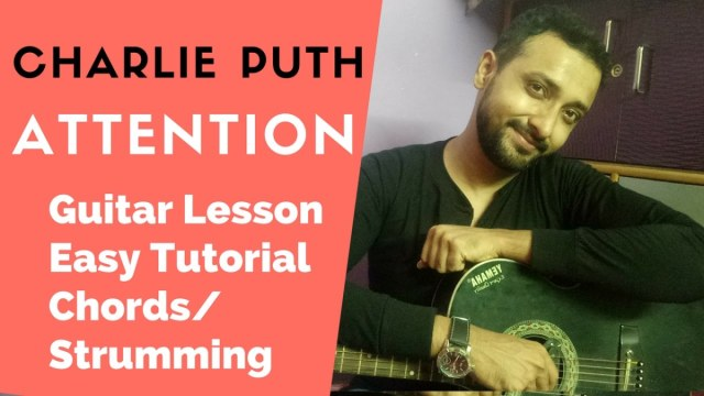 Charlie Puth Attention Guitar Lesson for Beginners  Easy Tutorial ...