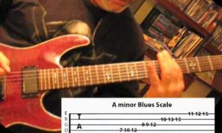 A Minor Blues Scale … 3 Note per String .. guitar lesson w/ Edward Andrew