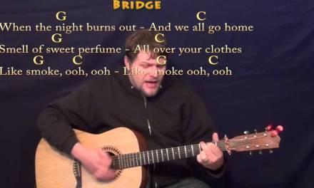 Smoke (A Thousand Horses) Strum Guitar Cover Lesson with Chords/Lyrics