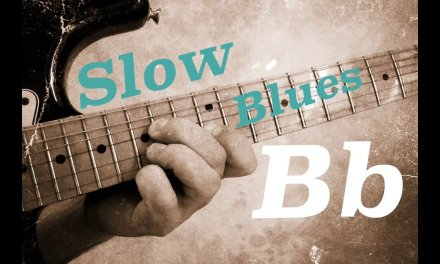 Slow Blues  Guitar Backing Track in  Bb