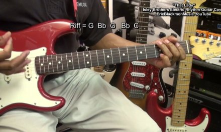 THAT LADY The Isley Brothers Electric Rhythm Guitar Play Along W Chords EricBlackmonGuitar HD