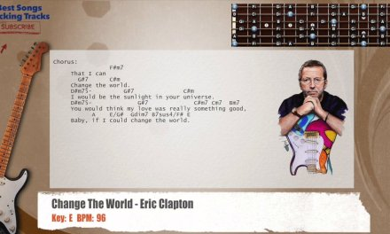 Change The World – Eric Clapton Guitar Backing Track with chords and lyrics