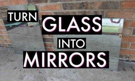 TURN GLASS INTO MIRRORS! {rustoleum mirror effects spray paint}