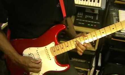 Daft Punk GET LUCKY Nile Rodgers Electric Funk Improv Guitar Solo Cover EricBlackmon Music