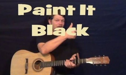 Paint It Black (The Rolling Stones) Easy Guitar Lesson How to Play Tutorial