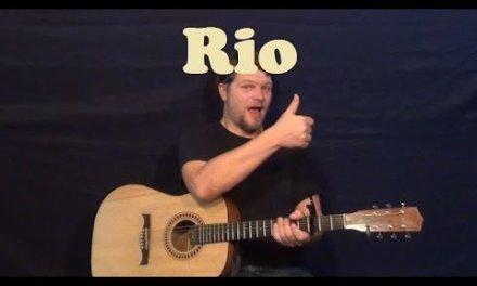 Rio (Duran Duran) Easy Guitar Lesson Strum Chords Licks How to Play Tutorial