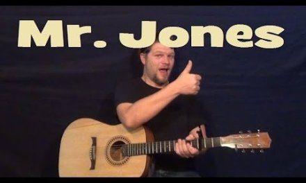 Mr. Jones (COUNTING CROWS) Easy Strum Guitar Lesson – Chords How to Play – Munson