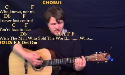 Man Who Sold The World (David Bowie) Strum Guitar Cover Lesson with Chords/Lyrics