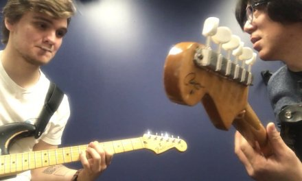 Berklee Private Guitar Lesson /Working on Bb Blues with my student / Tomo Fujita