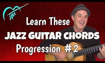 Jazz Guitar Chords Progression And Exercise G13 – Dm9 – CM9 – G7(#5)