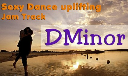 Sexy Uplifting Dance Guitar Backing Track in D Minor 150 Bpm