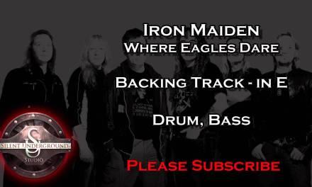Iron Maiden – Where Eagles Dare – Backing Track in E
