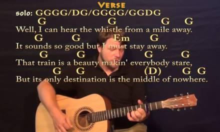 Long Black Train (Josh Turner) Strum Guitar Cover Lesson with Chords / Lyrics