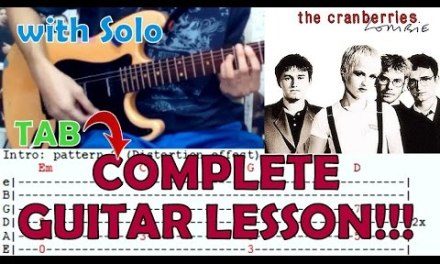 Zombie – The Cranberries(Complete Guitar Lesson/Cover)with Chords and Tab