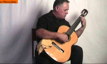 Classical Guitar Andante in E Major by Aguado