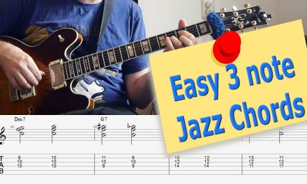 Easy 3 note Jazz Chords – The Magic of Triads – Jazz Guitar Lesson