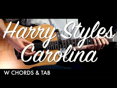 Harry Styles – Carolina Guitar Tutorial Lesson w Chords & TAB ...
