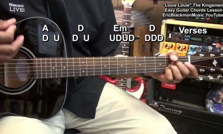 How To Play LOUIE LOUIE The Kingsmen On Guitar 3 Easy Chords EricBlackmonGuitar